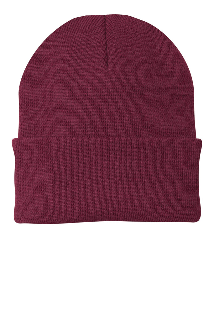ebdcc35c762 Port   Company ® - Knit Cap. CP90 - Maroon - Customize   Buy – Brand RPM