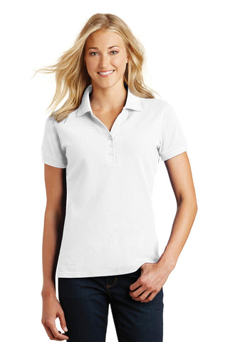 Eddie Bauer ®  Ladies Cotton Pique Polo. EB101 - White