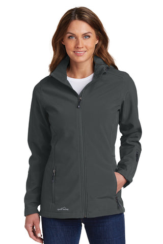 Eddie Bauer ®  Ladies Hooded Soft Shell Parka. EB537 - Grey Steel