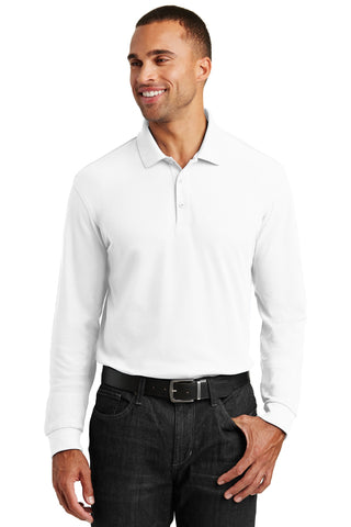 Port Authority ®  Long Sleeve Core Classic Pique Polo. K100LS - White