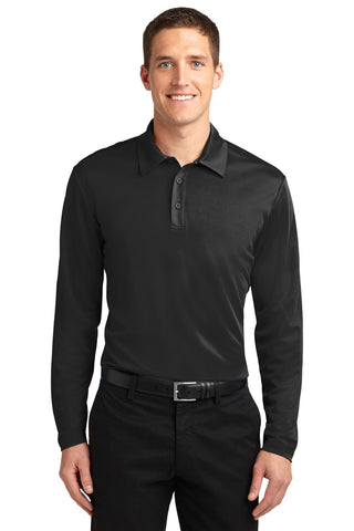 Port Authority ®  Silk Touch™ Performance Long Sleeve Polo. K540LS - Black