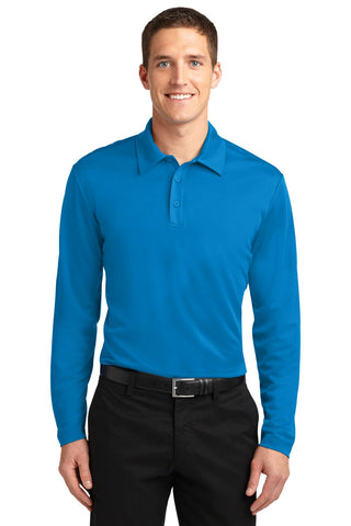 Port Authority ®  Silk Touch™ Performance Long Sleeve Polo. K540LS - Brilliant Blue