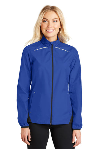 Port Authority ®  Ladies Zephyr Reflective Hit Full-Zip Jacket. L345 - True Royal/ Deep Black