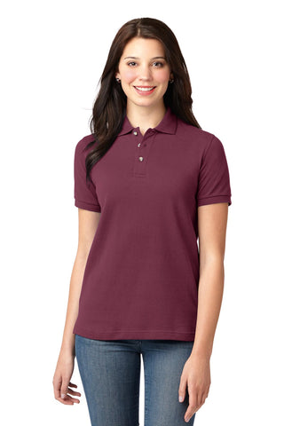 Port Authority ®  Ladies Heavyweight Cotton Pique Polo.  L420 - Burgundy