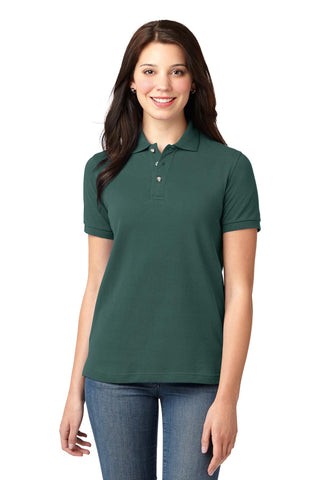 Port Authority ®  Ladies Heavyweight Cotton Pique Polo.  L420 - Dark Green
