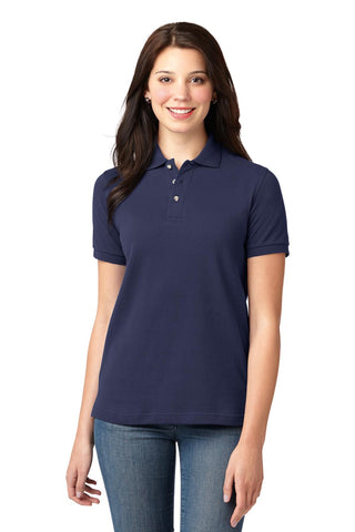 Port Authority ®  Ladies Heavyweight Cotton Pique Polo.  L420 - Navy