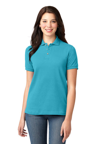 Port Authority ®  Ladies Heavyweight Cotton Pique Polo.  L420 - Turquoise
