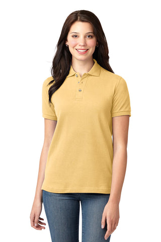 Port Authority ®  Ladies Heavyweight Cotton Pique Polo.  L420 - Yellow