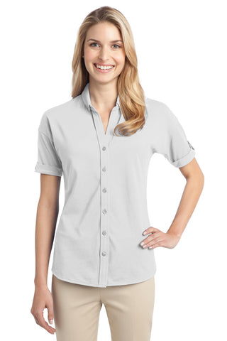 Port Authority ®  Ladies Stretch Pique Button-Front Shirt. L556 - White