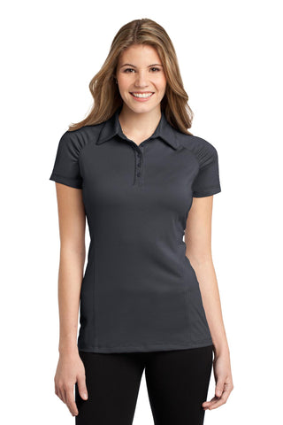 Port Authority ®  Ladies Fine Stripe Performance Polo. L558 - Graphite/ Black