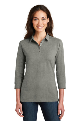 Port Authority ®  Ladies 3/4-Sleeve Meridian Cotton Blend Polo. L578 - Monument Grey