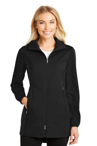 Port Authority ®  Ladies Active Hooded Soft Shell Jacket. L719 - Deep Black