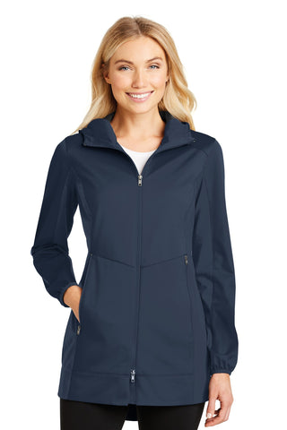 Port Authority ®  Ladies Active Hooded Soft Shell Jacket. L719 - Dress Blue Navy