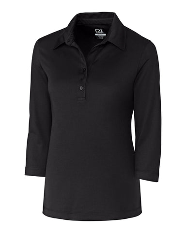 CB DryTec 3/4 Sleeve Chelan Polo - Solid Black