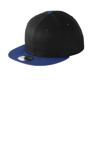 New Era ®  - Flat Bill Snapback Cap. NE400 - Black/ Royal
