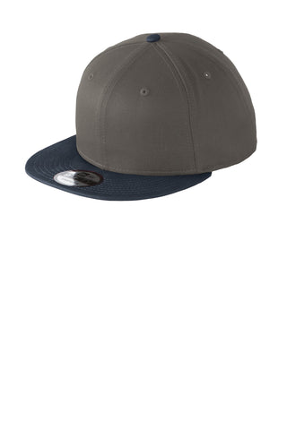 New Era ®  - Flat Bill Snapback Cap. NE400 - Charcoal/ Deep Navy