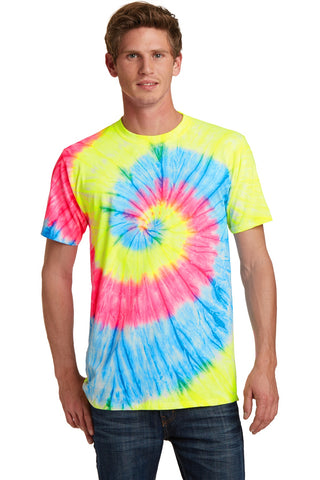 Port & Company ®  - Tie-Dye Tee. PC147 - Neon Rainbow