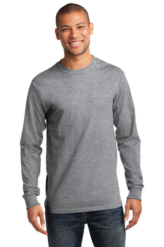 Port & Company ®  - Long Sleeve Essential Tee. PC61LS - Athletic Heather*