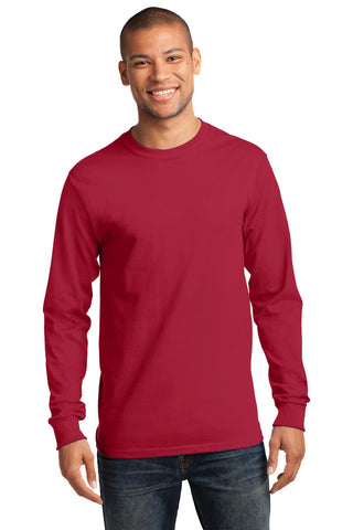 Port & Company ®  - Long Sleeve Essential Tee. PC61LS - Red