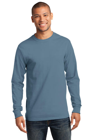 Port & Company ®  - Long Sleeve Essential Tee. PC61LS - Stonewashed Blue