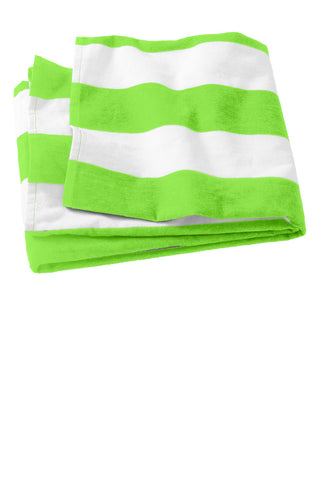 Port Authority ®  Cabana Stripe Beach Towel. PT43 - Bright Lime