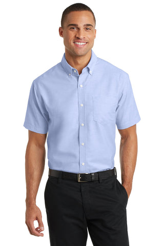 Port Authority ®  Short Sleeve SuperPro ™  Oxford Shirt. S659 - Oxford Blue
