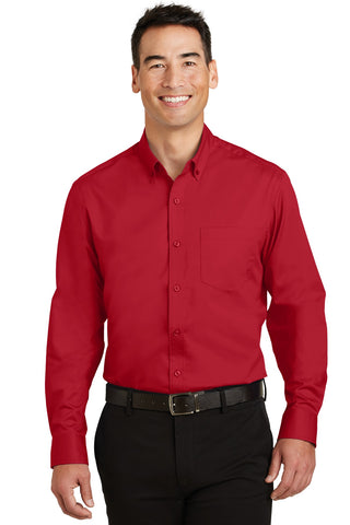 Port Authority ®  SuperPro ™  Twill Shirt. S663 - Rich Red