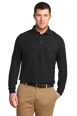 Port Authority ®  Tall Silk Touch™ Long Sleeve Polo. TLK500LS - Black