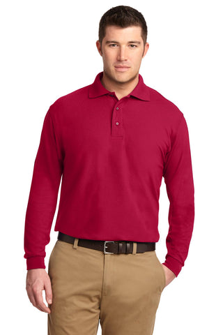 Port Authority ®  Tall Silk Touch™ Long Sleeve Polo. TLK500LS - Red
