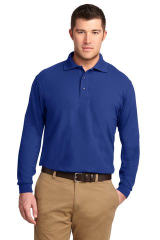 Port Authority ®  Tall Silk Touch™ Long Sleeve Polo. TLK500LS - Royal