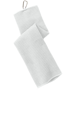 Port Authority ®  Waffle Microfiber Golf Towel. TW60 - White