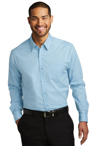 Port Authority ®  Micro Tattersall Easy Care Shirt. W643 - Heritage Blue/ Royal