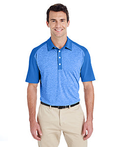 Adidas Men's Heather Block Polo - Bright Royal