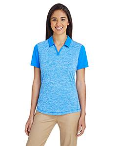 Adidas Ladies' Heather Block Polo - Bright Royal