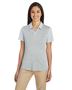Adidas Ladies' Heather Block Polo - Clear Onix