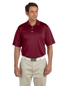 Adidas Men's climalite Textured Short-Sleeve Polo - Colleg  Burgundy