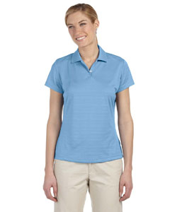 Adidas Ladies' climalite Textured Short-Sleeve Polo - Tide