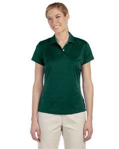 Adidas Ladies' climalite Textured Short-Sleeve Polo - Collegiate Green