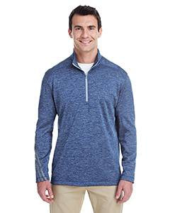 Adidas Men's 3-Stripes Heather Quarter-Zip - Col Royal Melang
