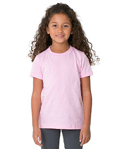 American Apparel Toddler Poly-Cotton Short-Sleeve Crewneck - Pink