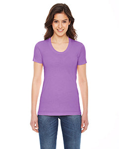 American Apparel Ladies' Poly-Cotton Short-Sleeve Crewneck - Orchid