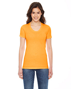 American Apparel Ladies' Poly-Cotton Short-Sleeve Crewneck - Gold