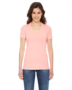 American Apparel Ladies' Poly-Cotton Short-Sleeve Crewneck - Apricot