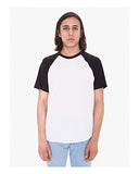 American Apparel Unisex Poly-Cotton Raglan T-Shirt - White/ Black