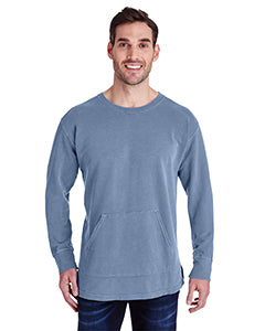 Comfort Colors Adult French Terry Crew With Pocket - Blue Jean