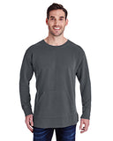 Comfort Colors Adult French Terry Crew With Pocket - Pepper