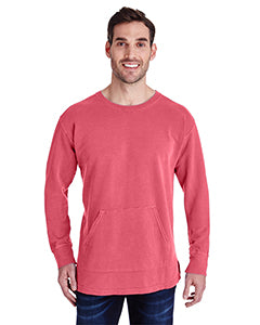 Comfort Colors Adult French Terry Crew With Pocket - Watermelon