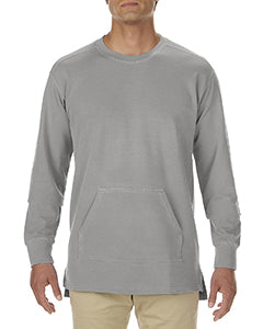 Comfort Colors Adult French Terry Crew With Pocket - Grey