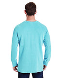 Comfort Colors Adult French Terry Crew With Pocket - Lagoon Blue