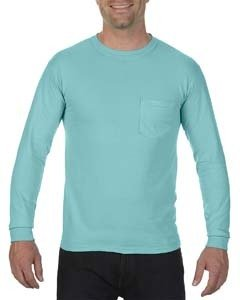 Comfort Colors Adult Heavyweight RS�Long-Sleeve Pocket T-Shirt - Chalky Mint